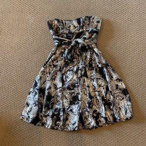 BCBG | Silk Strapless Dress